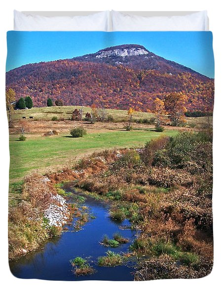 Creek In The Valley Duvet Cover