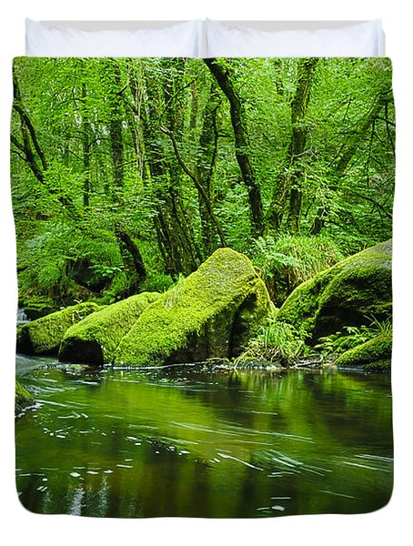 Creek In The Woods Duvet Cover