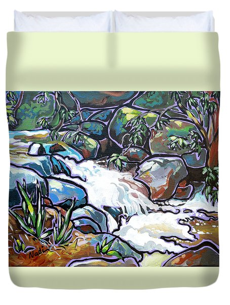 Creek Duvet Cover by Nadi Spencer
