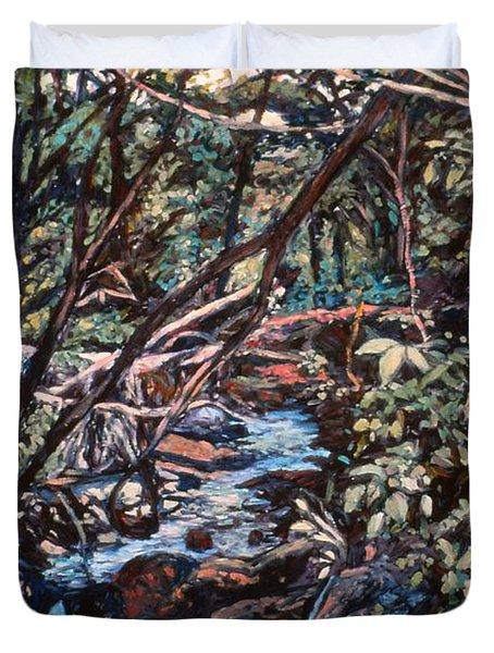 Creek Near Smart View Duvet Cover by Kendall Kessler