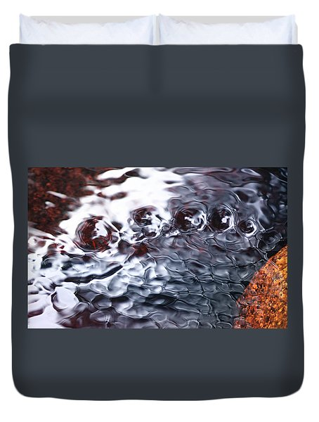 Creek Twirls Abstract Macro Duvet Cover