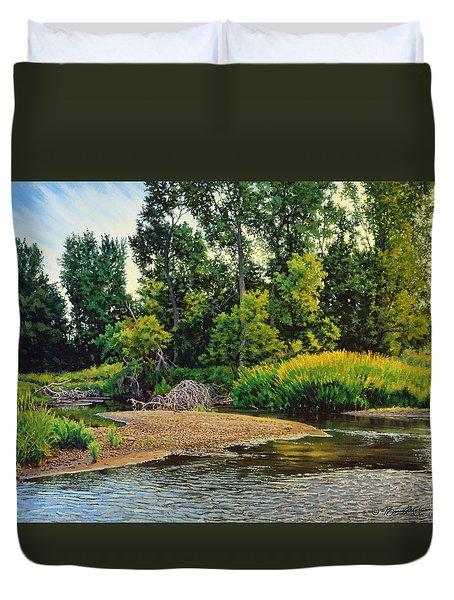 Creek's Bend Duvet Cover by Bruce Morrison
