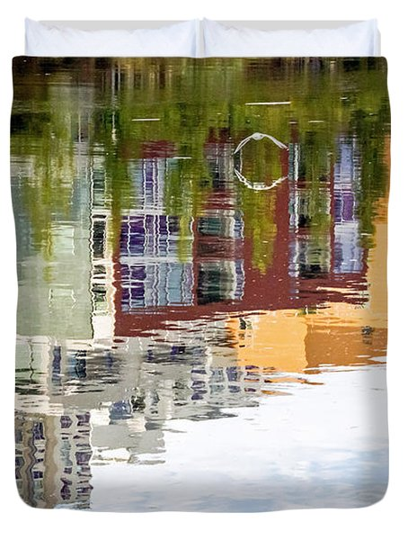 Duvet Cover featuring the photograph Creekside Reflections by Kate Brown