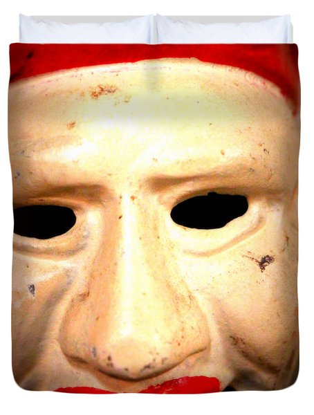 Duvet Cover featuring the photograph Creepy Clown by Lynn Sprowl