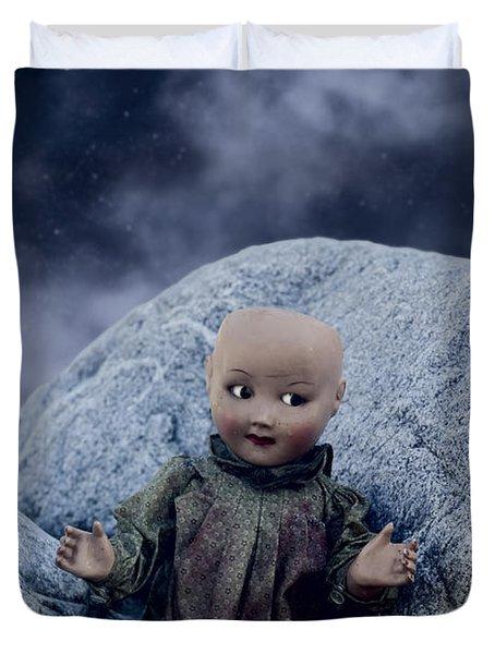 Creepy Doll Duvet Cover by Joana Kruse