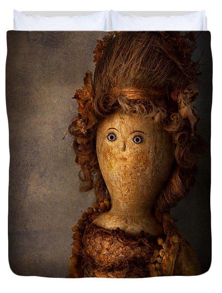Creepy - Doll - Matilda Duvet Cover by Mike Savad