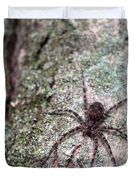 Creepy Spider Duvet Cover by Karol Livote