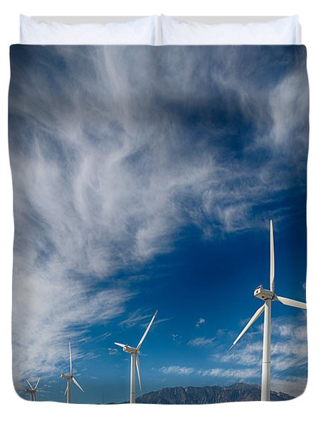 Creosote And Wind Turbines Duvet Cover