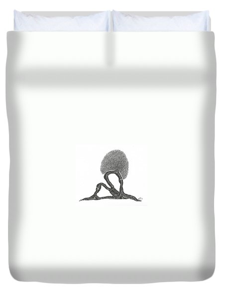 Crescent Lunge Duvet Cover