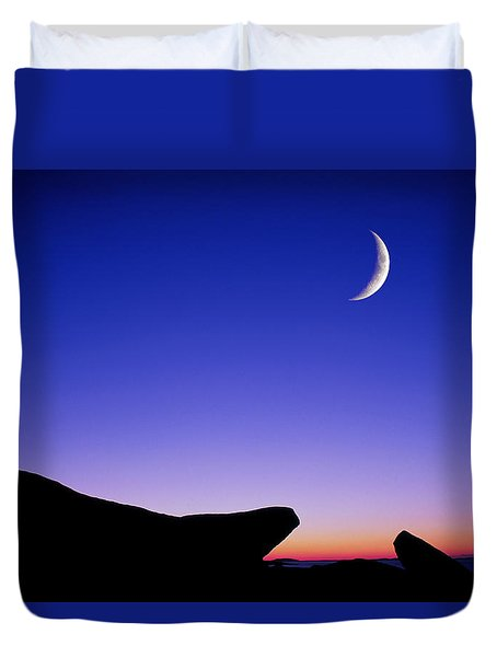 Crescent Moon Halibut Pt. Duvet Cover
