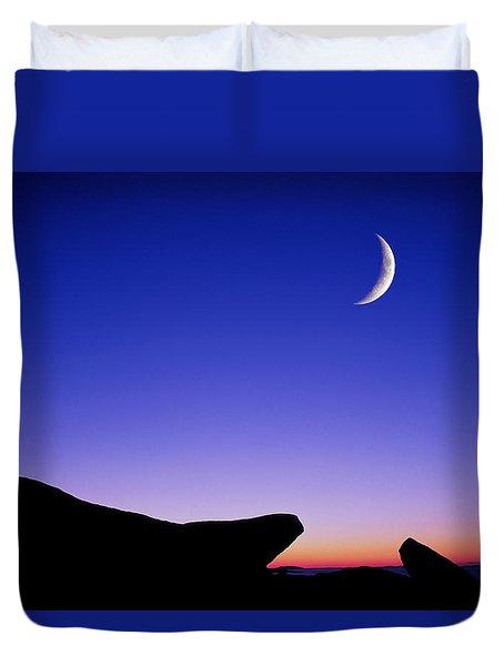Crescent Moon Halibut Pt. Duvet Cover by Michael Hubley