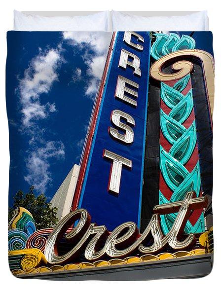 Crest Theater Duvet Cover