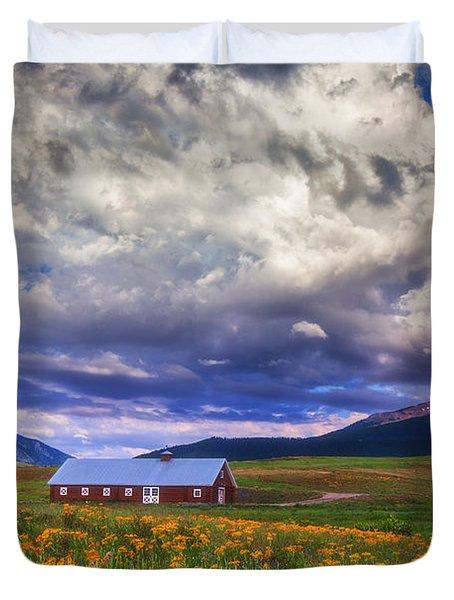 Crested Butte Morning Storm Duvet Cover