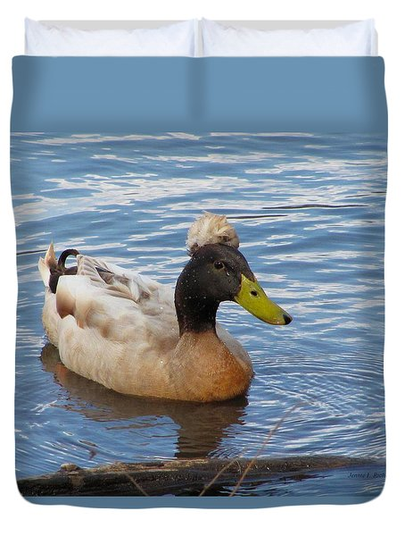 Crested Duck Duvet Cover