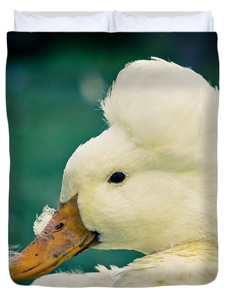 Crested Duck Duvet Cover