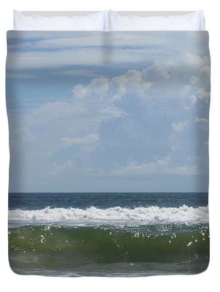 Cresting Wave Duvet Cover by Ellen Meakin