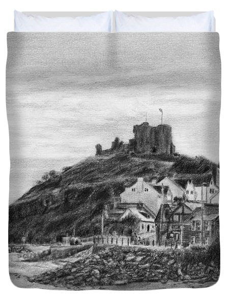 Criccieth Beach Wales Uk Duvet Cover