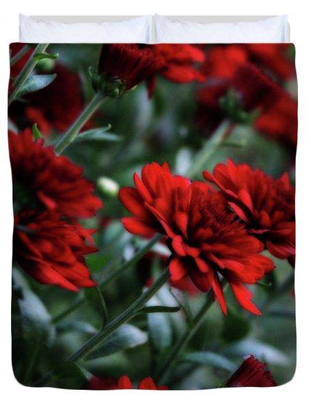 Crimson And Clover Duvet Cover