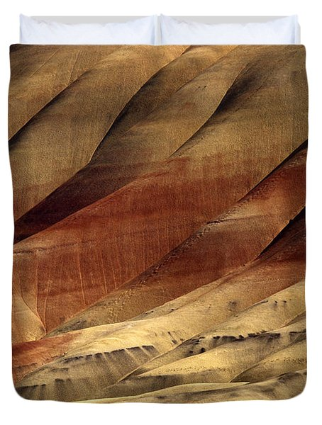 Crimson And Gold Duvet Cover by Mike  Dawson
