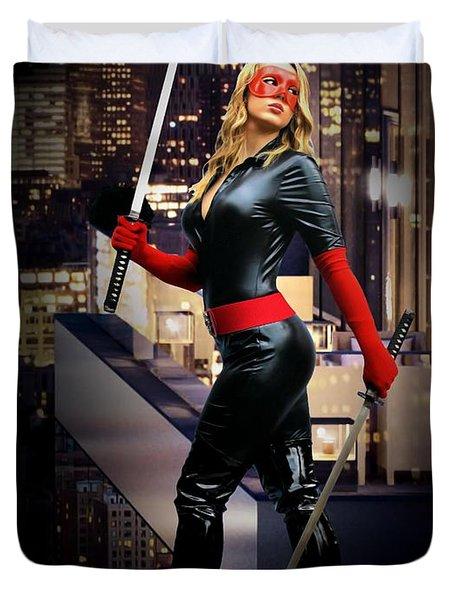 Crimson Avenger The Penthouse Watch Duvet Cover