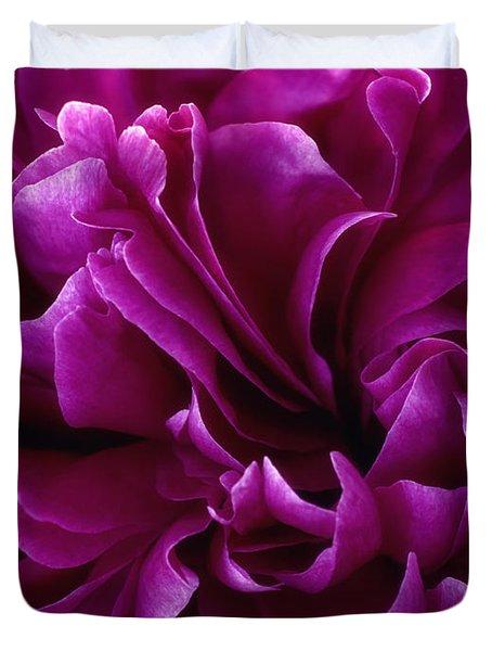 Crimson Chiffon Duvet Cover