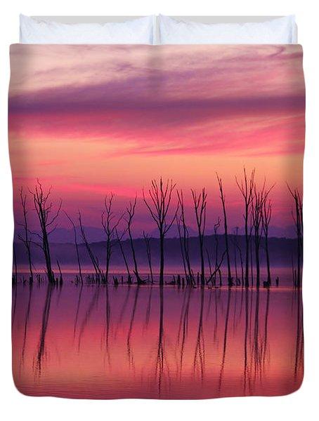 Crimson Morn Duvet Cover
