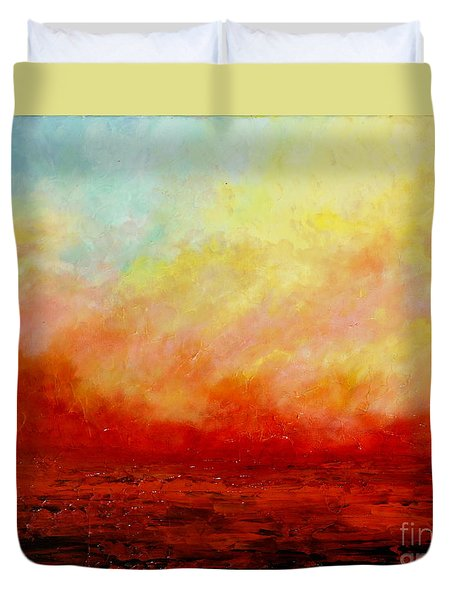 Crimson Duvet Cover by Teresa Wegrzyn