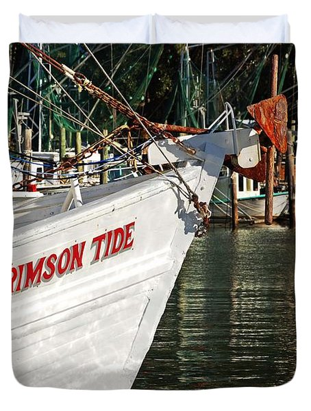 Crimson Tide Bow Duvet Cover by Michael Thomas