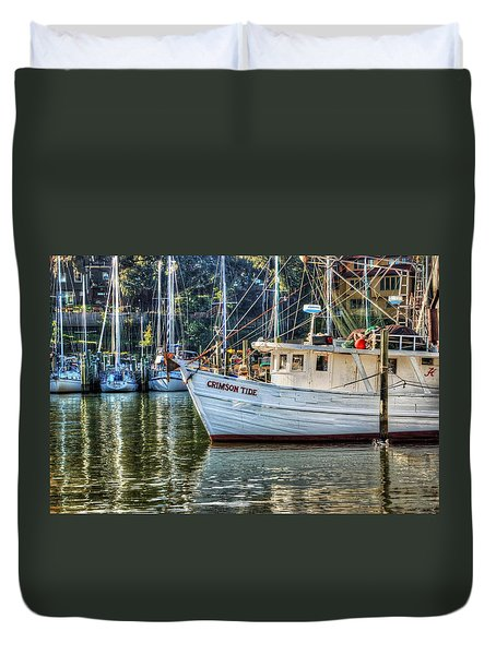 Crimson Tide In The Sunshine Duvet Cover by Michael Thomas