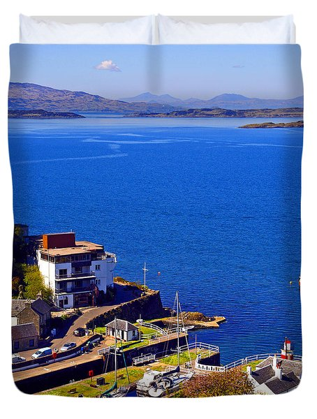 Crinan Harbour Scotland Duvet Cover by Craig B