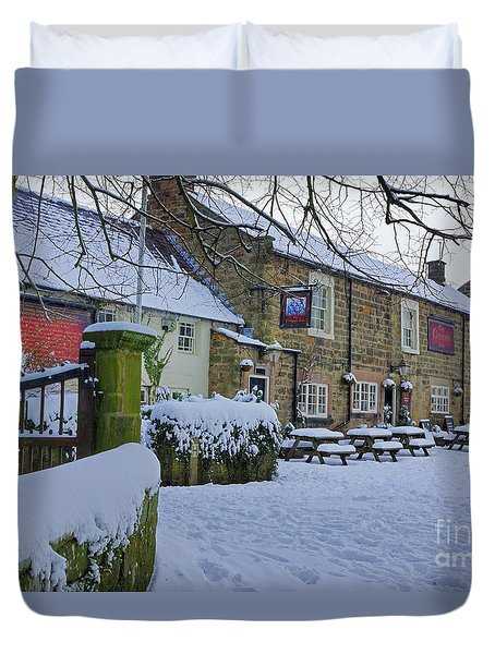 Crispin Inn At Ashover Duvet Cover by David Birchall