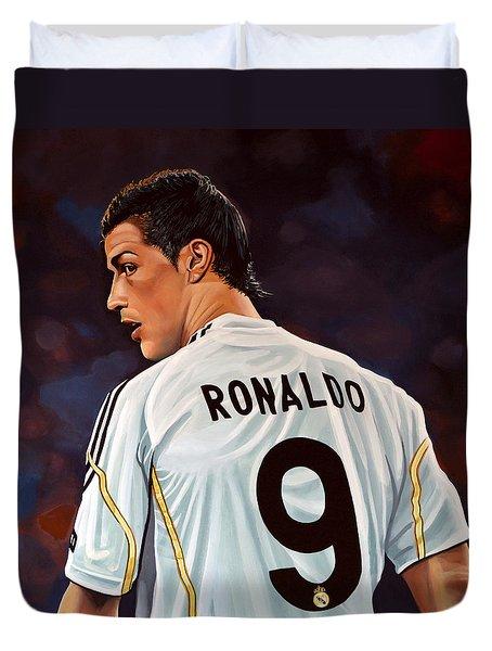 Cristiano Ronaldo Duvet Cover by Paul Meijering