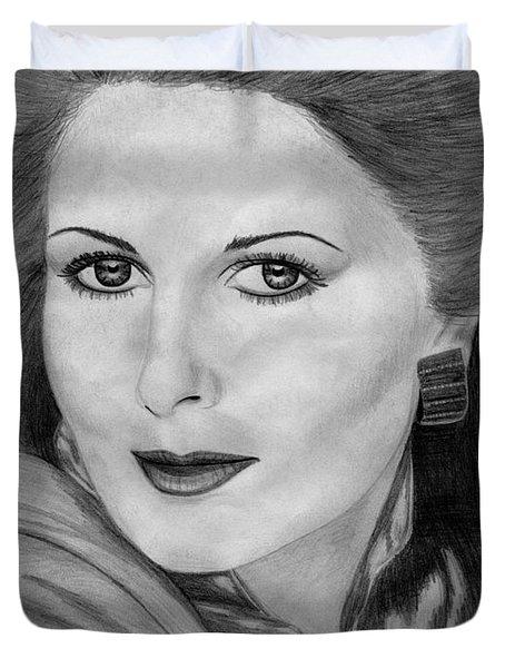 Cristina Ferrare In 1981 Duvet Cover by J McCombie