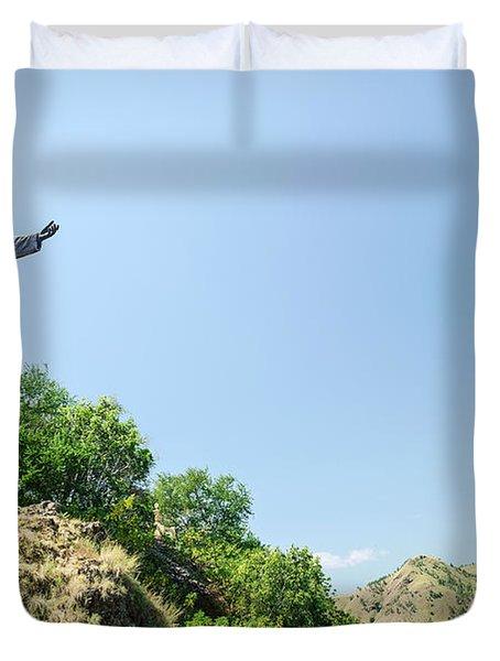 Cristo Rei Statue Near Dili East Timor Timor Leste Duvet Cover