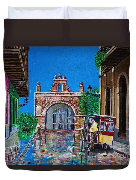 Capilla De Cristo - Old San Juan Duvet Cover by The Art of Alice Terrill