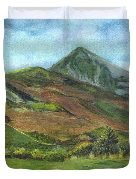 Croagh Saint Patricks Mountain In Ireland  Duvet Cover