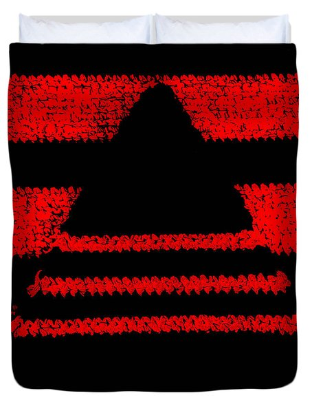 Crochet Pyramid Digitally Manipulated Duvet Cover by Kerstin Ivarsson