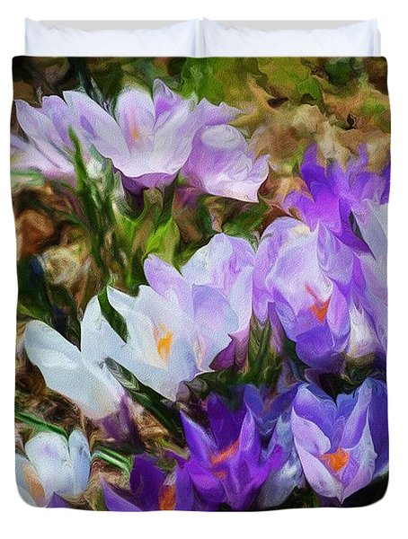 Crocus Fantasy Duvet Cover by David Lane