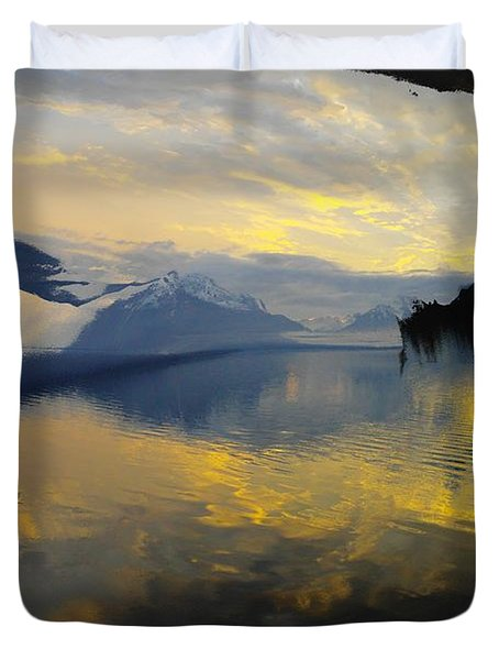 Crooked Frame Duvet Cover by Jeff Swan