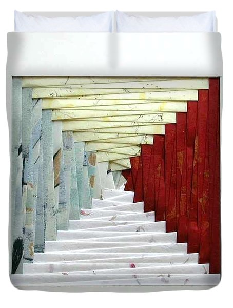 Crooked Staircase Duvet Cover
