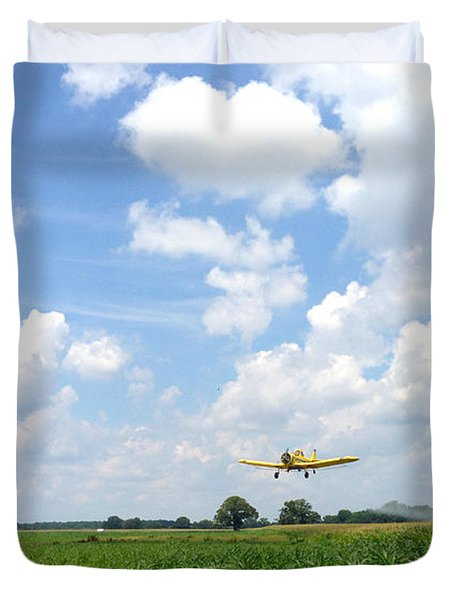 Yellow Crop Duster Duvet Cover
