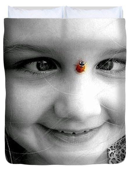 Duvet Cover featuring the photograph Cross-eyed For Ladybugs by Faith Williams
