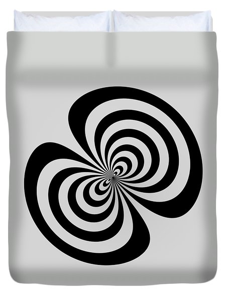 Duvet Cover featuring the digital art Cross Eyed by Nick Kloepping