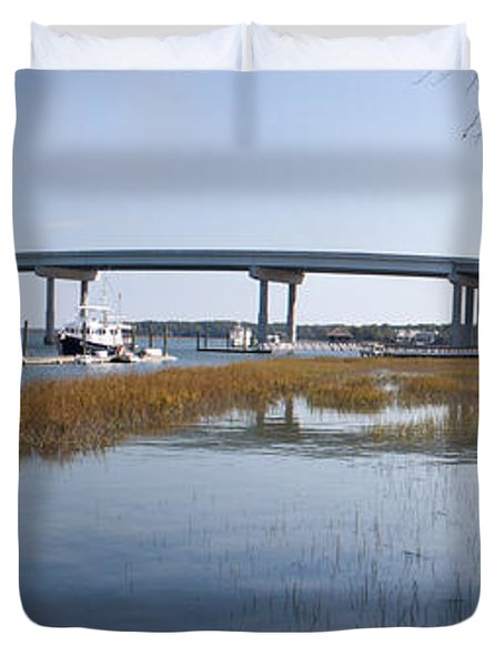 Cross Island Bridge Hilton Head Duvet Cover