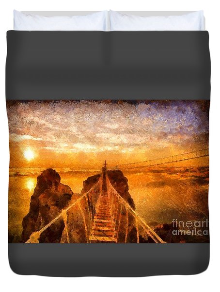 Cross That Bridge Duvet Cover