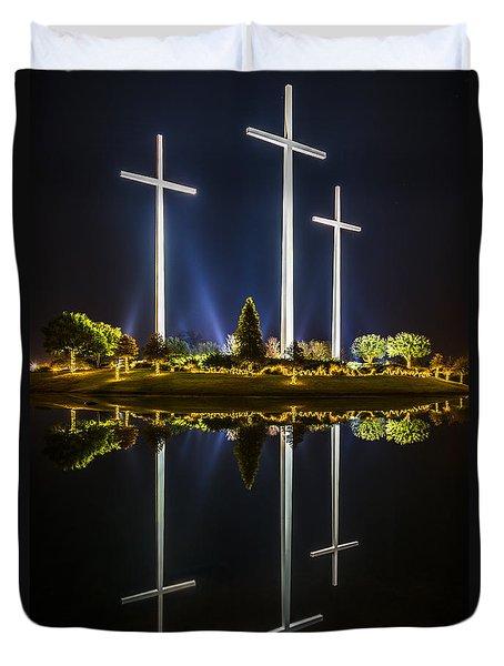Crosses In Reflection Duvet Cover