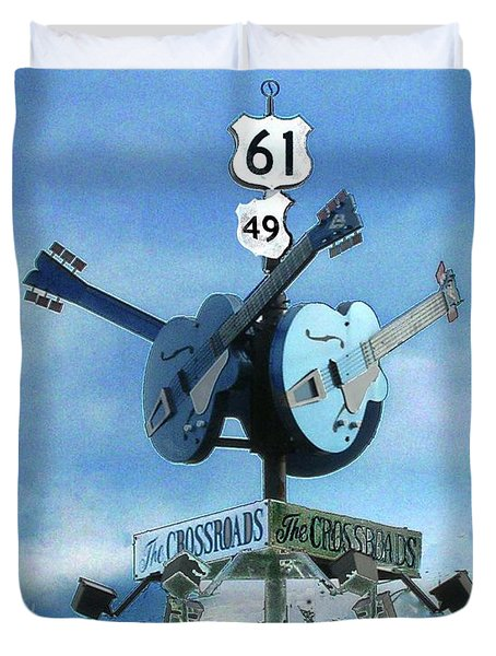 Crossroads In Clarksdale Duvet Cover by Lizi Beard-Ward