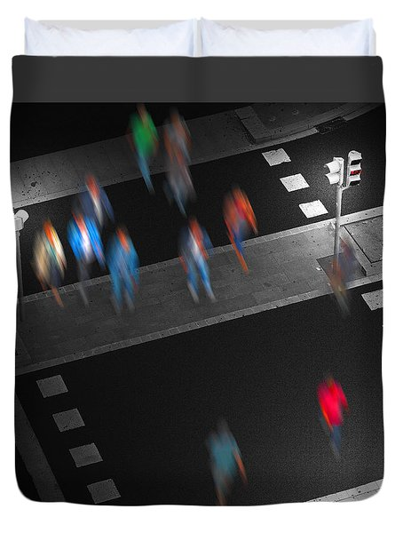 Crosswalk Duvet Cover by Pedro L Gili