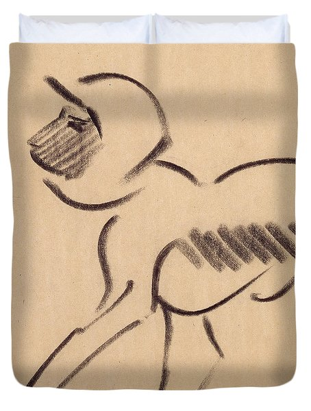 Crouching Monkey Duvet Cover by Henri Gaudier-Brzeska