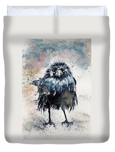 Crow After Rain Duvet Cover